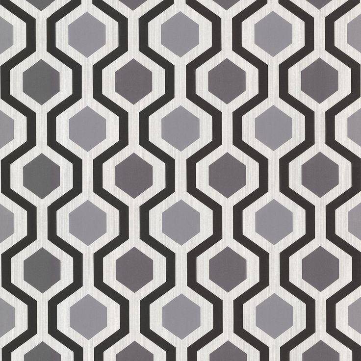 Interior Place - Marina Black 347-20133 Modern Geometric Wallpaper, 17.70 £ (http://www.interiorplace.com/marina-black-347-20133-modern-geometric-wallpaper/)