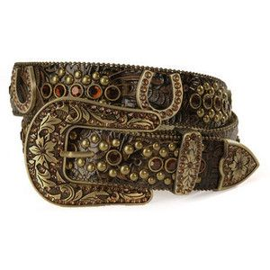 HorseLovers Trading Post - Perri's Rhinestone Horseshoe Brown Leather Western Bling Belt, $39.95 (http://www.horseloverstradingpost.com/apparel/casual-apparel/perris-rhinestone-horseshoe-brown-leather-western-bling-belt/)