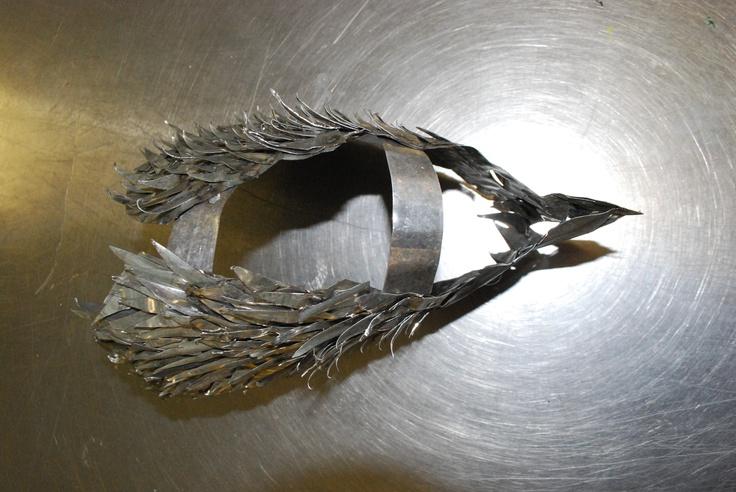 Metal bird sculptures