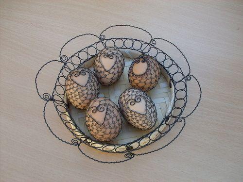 Drátovaná vajíčka - přírodní