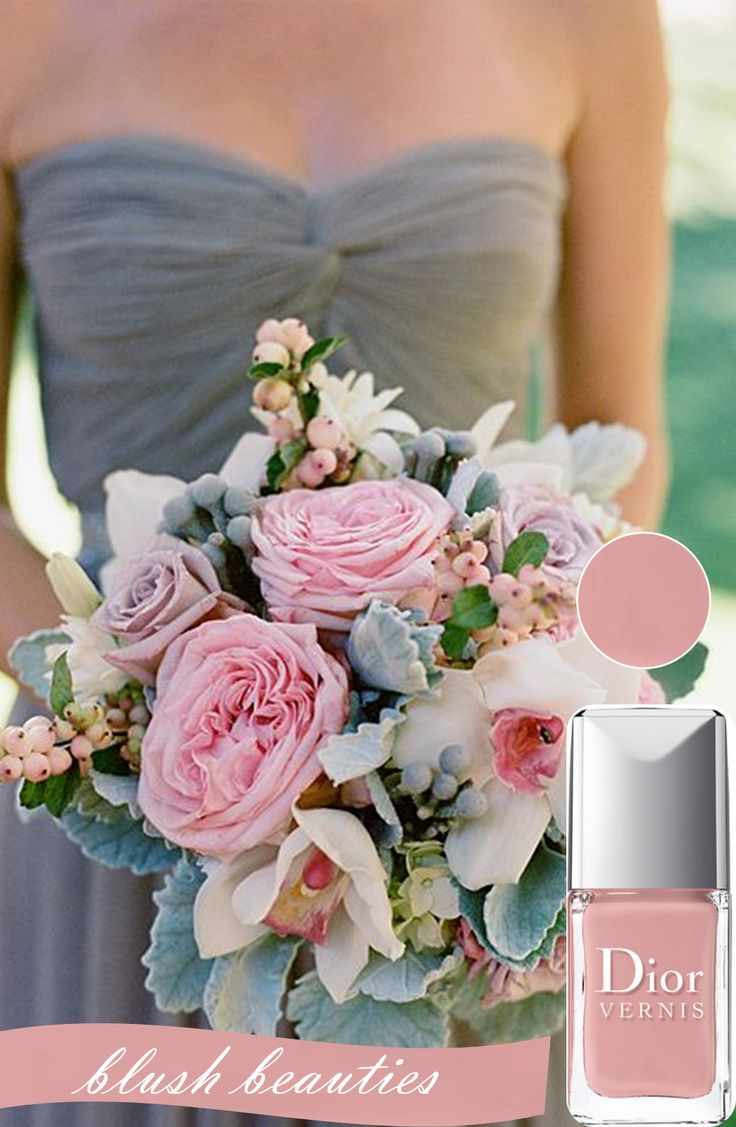 Match Your Manicures with Your Wedding Bouquets http://www.theperfectpalette.com/2014/02/coordinating-your-manicures-with-your.html