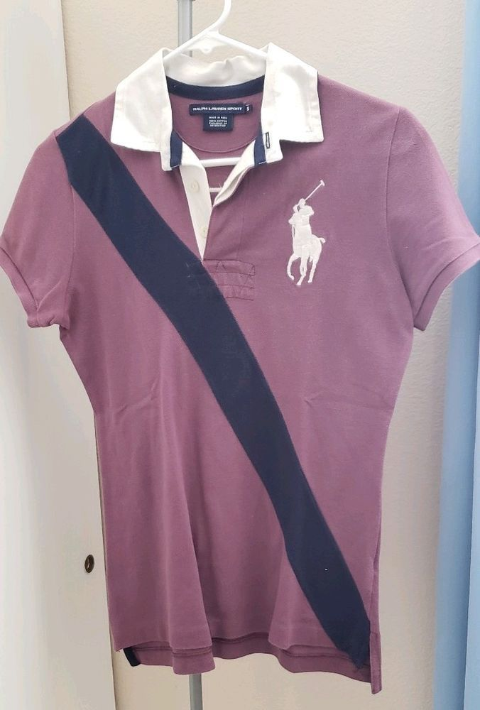 6643a715f6f Womens Ralph Lauren Polo Purple American Theme Polo Shirt Size Small   fashion  clothing  shoes  accessories  womensclothing  tops  ad (ebay link)