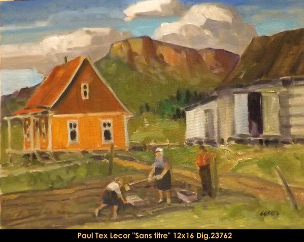 Paul Tex Lecor original oil painting on canvas reserved for upcoming book and expo at le Balcon d'art #texlecor #art #artist #canadianartist #quebecartist #originalpainting #oilpainting #landscape #humanfigure #balcondart #multiartltee