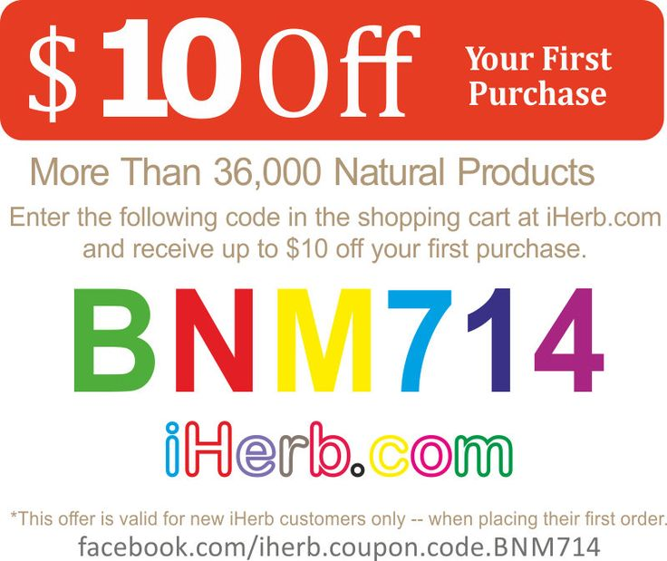iherb coupon BNM714 for $10 discount at iherb online shop!