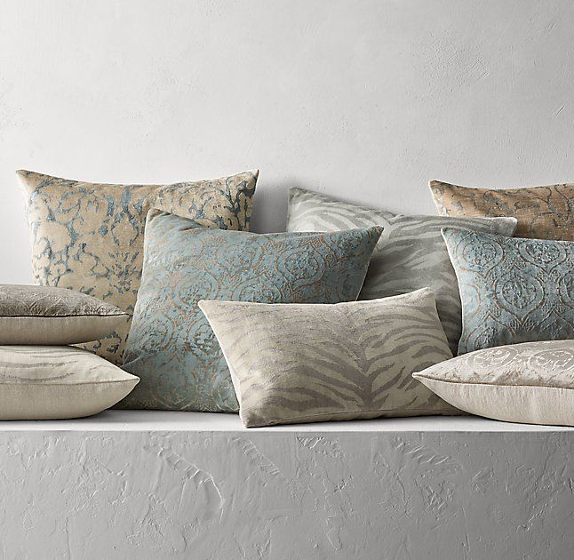 Rusty Arena Silk Screened Velvet Pillow Cover Victorian Living Roomliving