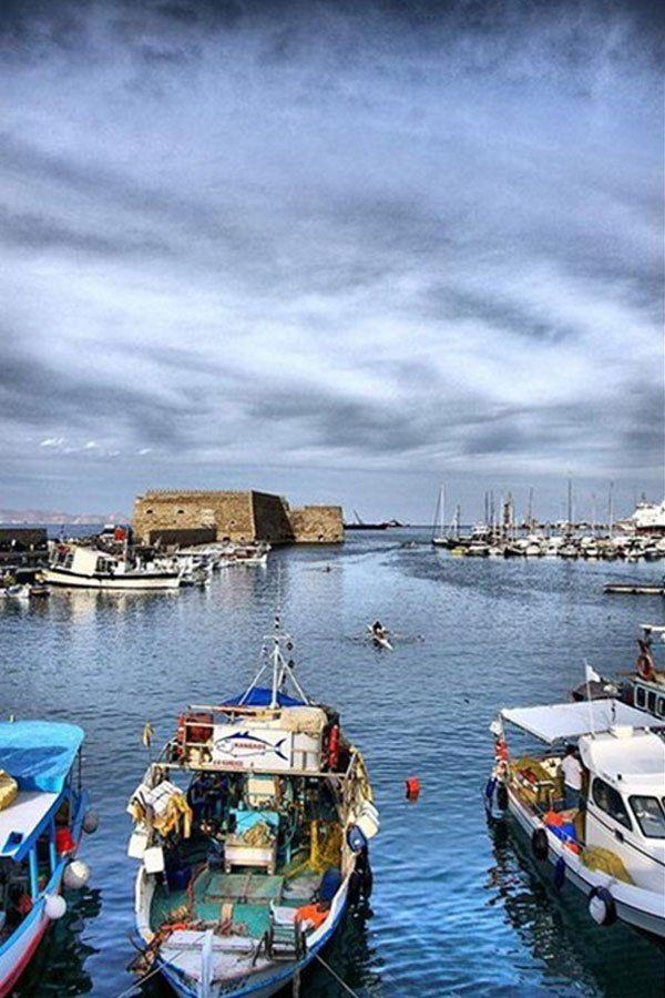 Heraklio Harbour, Crete, Greece