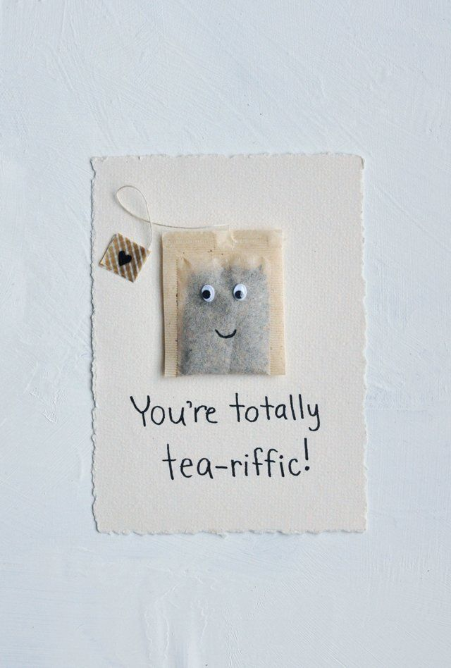 A 5 minute tea themed Valentines Day card! We think it's tea-riffic #valentinesday  3 Brilliant Valentines Day Ideas | magazine.co.uk