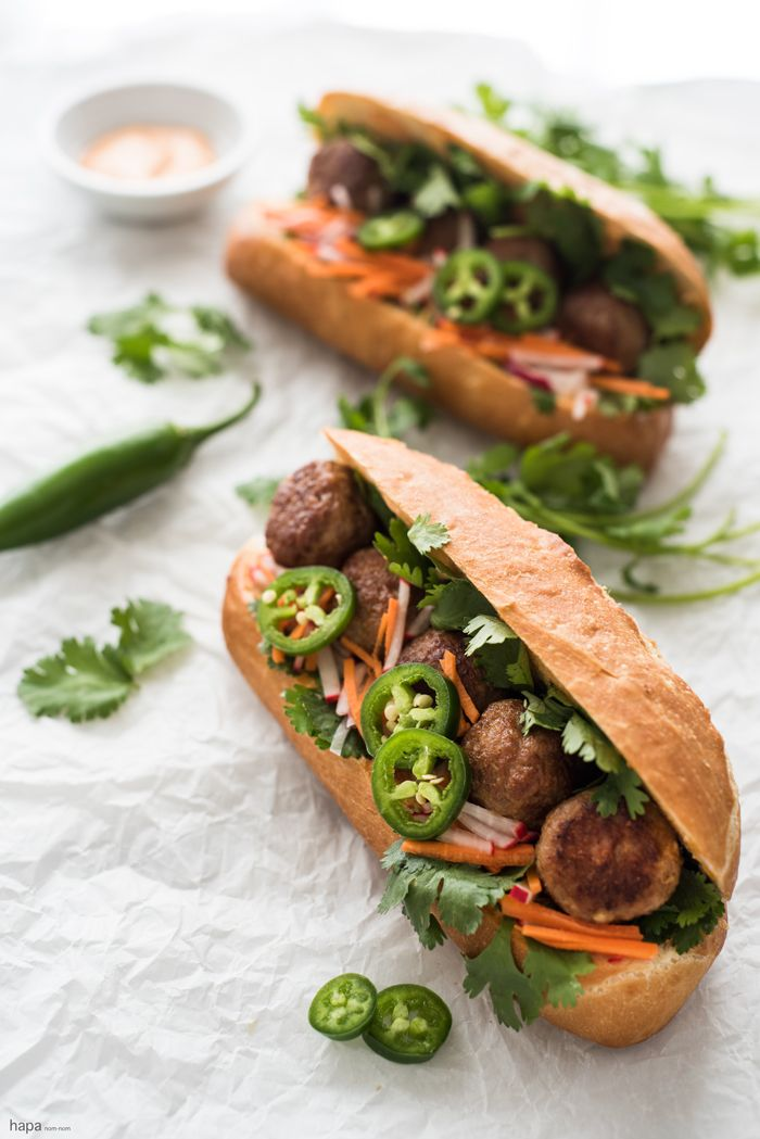 This is a fantastic weeknight meal - start to finish you can have this Meatball Bánh Mì Sandwich on the table in about 20 - 25 minutes!