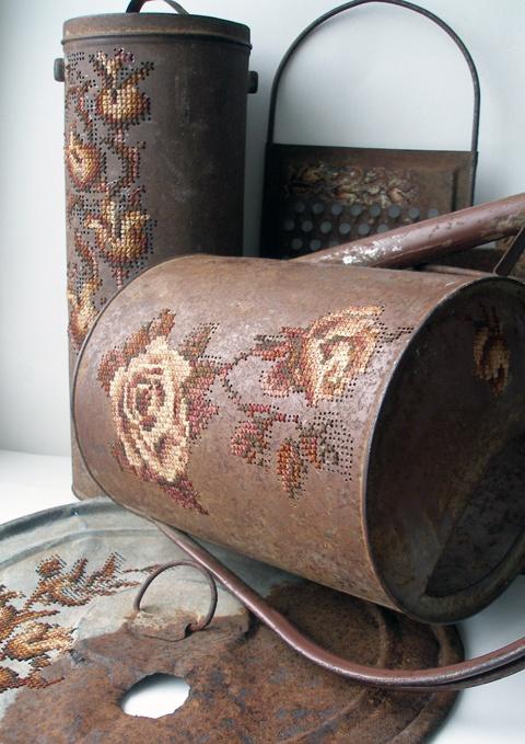 Severija Inčirauskaitė-Kriaunevičienė  Autumn Collection  Embroidery on metal