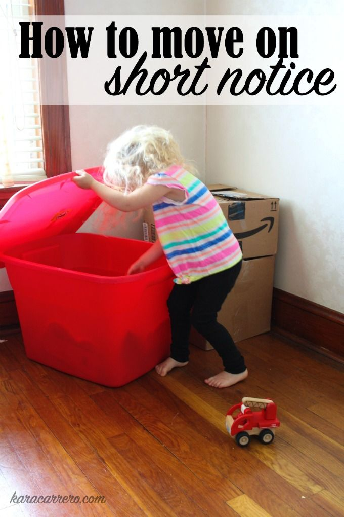 Tips and tricks for moving across the country as a family when you have to pack and move on short notice.