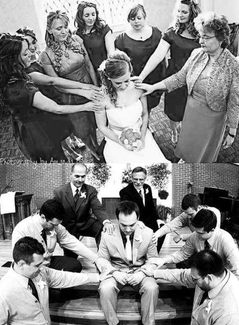 {Praying before the wedding}