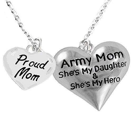 Army, Enlisted Daughter, Proud Mom, My Daughter Is My Hero, Adjustable, Hypoallergenic, Safe-Nickel, Lead, Cadmium Free