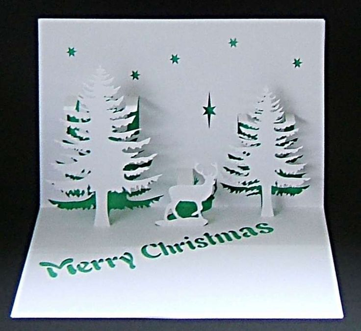 Biglietti Natale pop up fai da te - Biglietti pop up di Natale fai da te:alberi