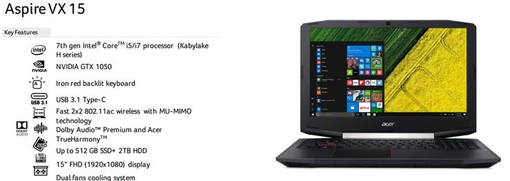ACER ASPIRE VX5-591G-52YZ - Cỗ xe tăng gaming hầm hố. #phucanh #phúcanh #Acer #Aspire #laptop #gaming