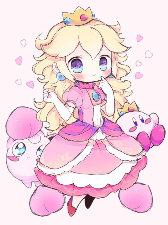 Peach, Jigglypuff, and Kirby