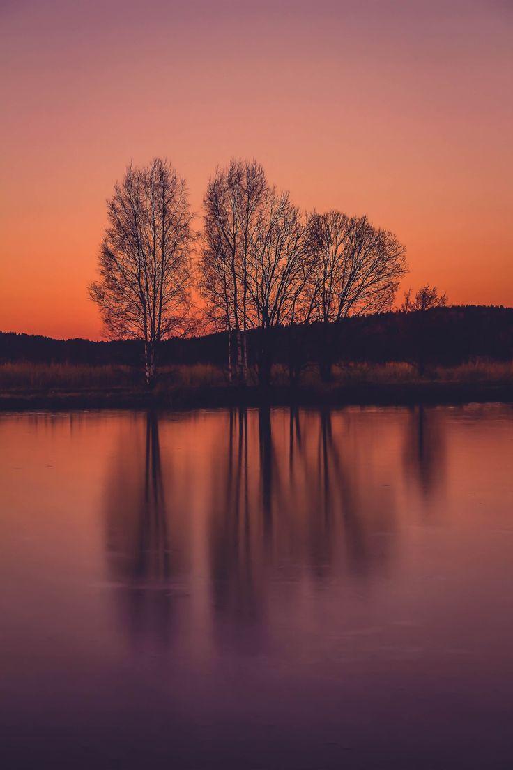 Shades of freeze part IV - Beautiful sunset in Vuohensaari, Salo.