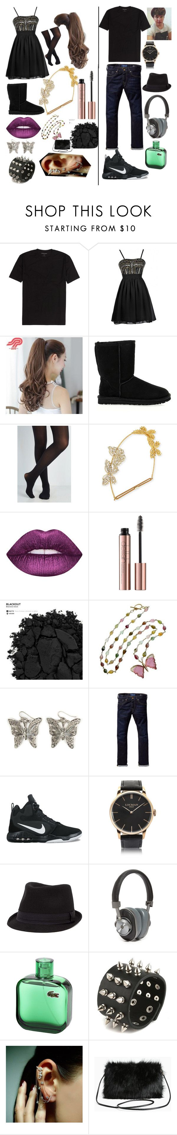 """Untitled #38"" by emberjoy-922 on Polyvore featuring Pin Show, UGG Australia, Jennifer Behr, Urban Decay, Pink Mint, Arizona, Scotch & Soda, NIKE, Locman and BKE"