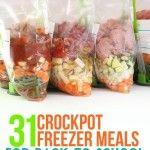 31 crockpot freezer meals for back-to-school