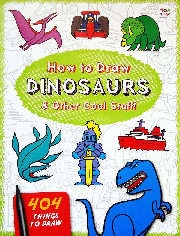 Buku Aktifitas Bahasa Inggris : How to Draw Dinosaurs! 404 Things To Draw