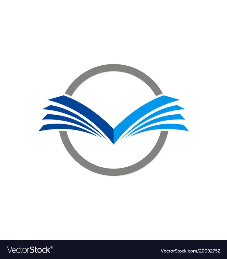 Open book education logo vector image on