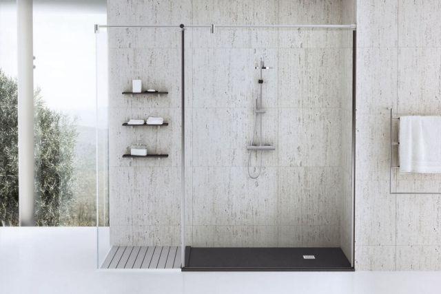 receveur de douche extra plat pour la salle de bain moderne design et interieur. Black Bedroom Furniture Sets. Home Design Ideas