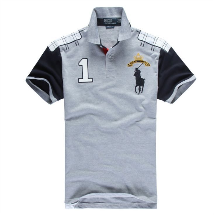 Ralph Lauren Men's No.1 Club Short Sleeve Polo Shirt Grey http://