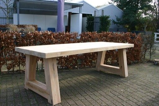 Tuintafel beton  u0026 hout   Zelf maken meubels   Pinterest