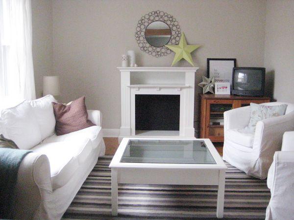 BM Edgecomb Gray Living Room