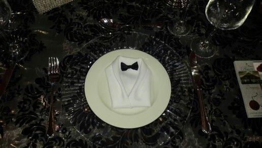 Tuxedo napkin detail