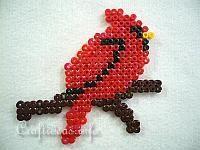 Fuse Bead Cardinal