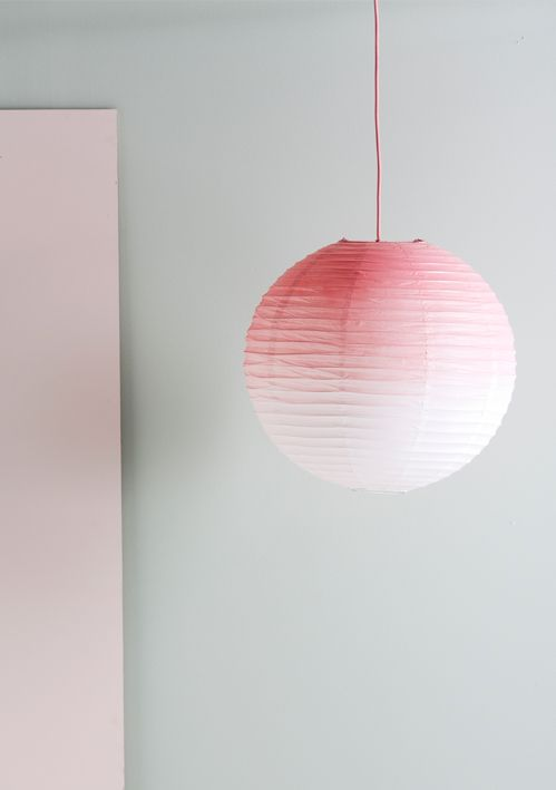 DIY: gradient lamp shade