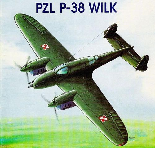 WWII Polish PZL.38 Wilk (PZL-38) Fighter-Bomber Free Aircraft Paper Model Download