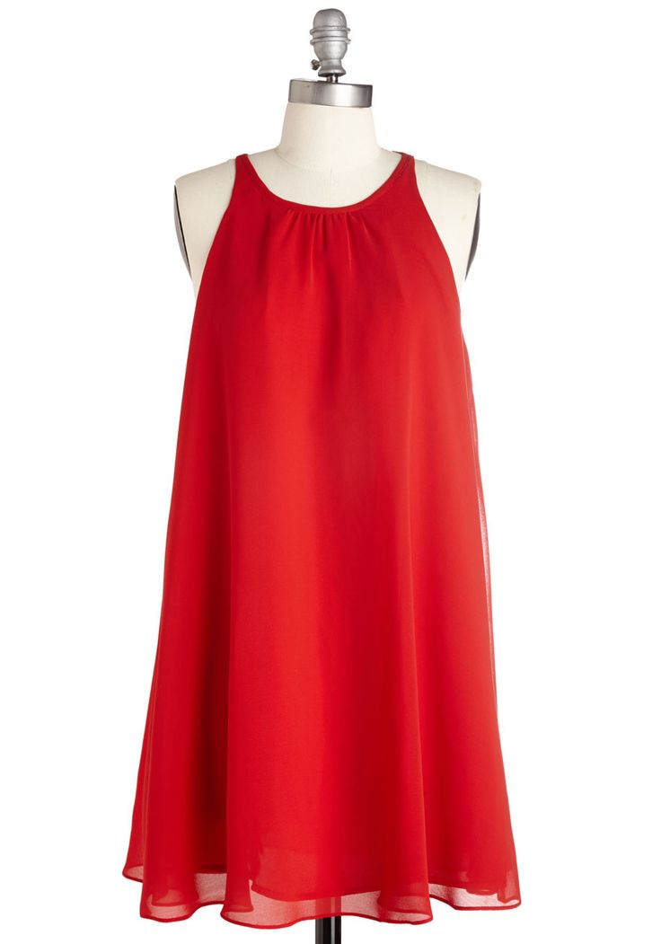 All-Around Allure Dress. Catch the eye of everyone at the party in this bold red dress! #red #modcloth