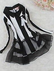 pigens nye mode stribe linje bomuldskjole – DKK kr. 212