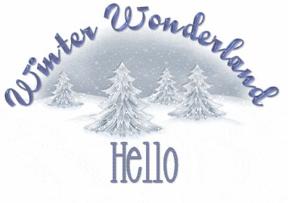 Winter Wonderland hello : Happy Winter Graphics
