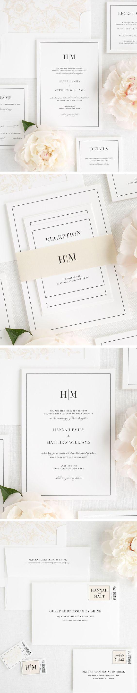 1137 best Wedding Invitation images on Pinterest