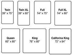 Standard Cal King And King Dimensions   Google Search