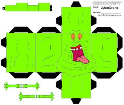 My Custom Fan Art Cubeecrafts Cutout templates from The Real Ghostbusters and Ghostbusters Movies. Ghostbusters (c) Columbia Pictures Television, DiC …