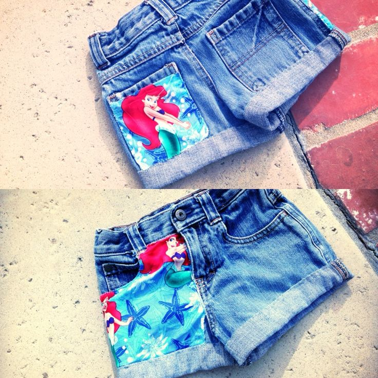little mermaid DIY shorts  (maybe not so short but same basic idea)