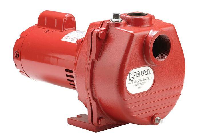 Red Lion RLSP-150 Cast Iron Sprinkler Pump, Red, 1-1/2 HP