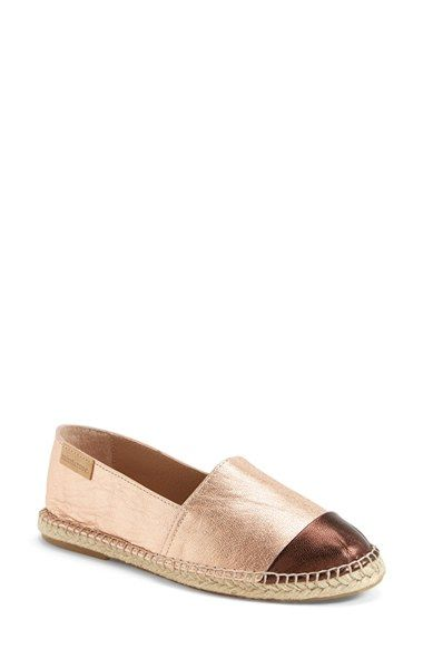 mint & rose 'Skorpios' Metallic Leather Espadrille (Women) available at #Nordstrom