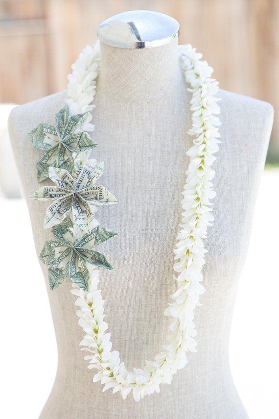 FLOWER MONEY LEI – Jasmine Silk Flowers – Money Flowers