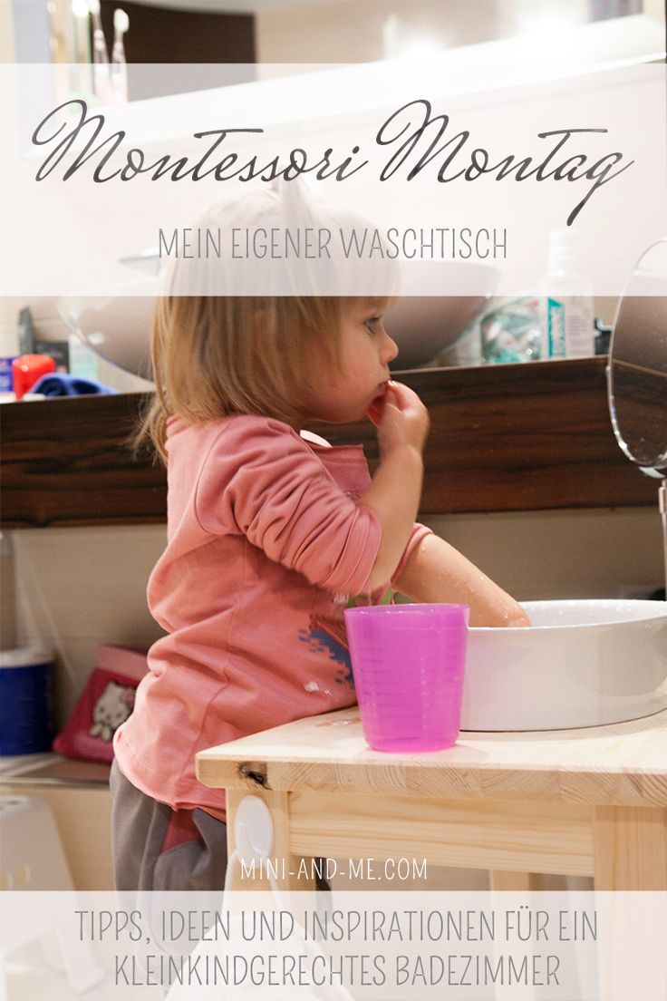 Montessori in the bathroom: the vanity (or one of the coolest things we've ever done)