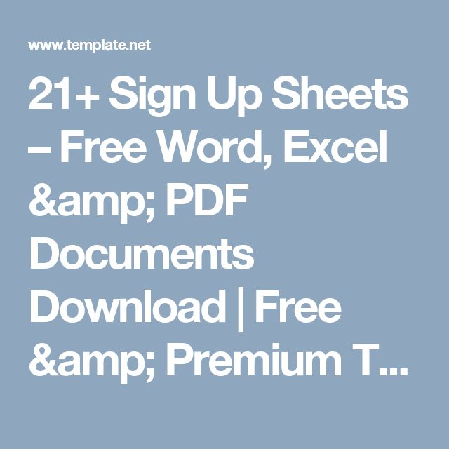 21+ Sign Up Sheets – Free Word, Excel & PDF Documents Download | Free & Premium Templates
