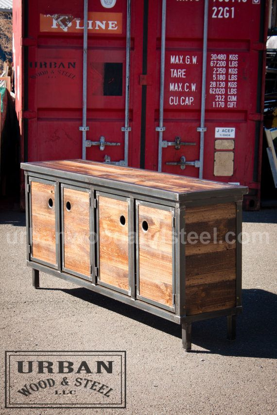The Shipyard Media Console van urbanwoodandsteel op Etsy