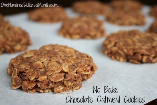 No Bake Chocolate Oatmeal Cookies | Recipes - Cookies | Pinterest