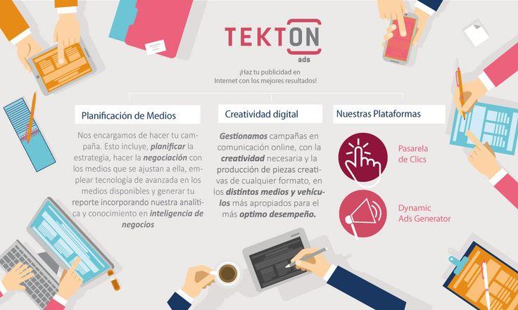 ¡Haz tu publicidad en Internet con los mejores resultados! Tekton ofrece todos los servicios de una agencia de marketing digital.
