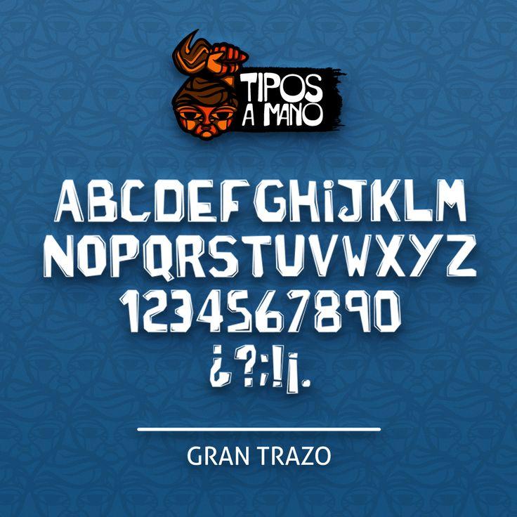 Tipografía Gran Trazo, basada en los carteles con gran impacto en los años 70.