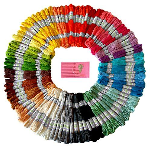 Premium Rainbow Color Embroidery Floss – Cross Stitch Thr...