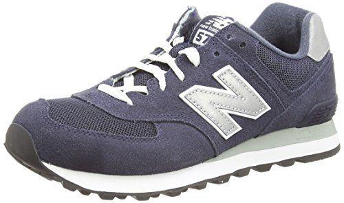 New Balance ML574 D Herren Low-Top Sneakers, Blau (Blue), 7.0 US - 40.0 EU - http://uhr.haus/new-balance/new-balance-ml574-d-herren-low-top-sneakers-blau-7-0